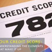 five factors that impact credit scores