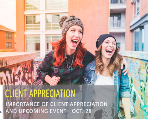 Importance of Client Appreciation - Upcoming Event on Oct. 28