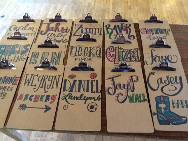school supplies clipboards