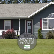 buying a manufactured home with a va loan