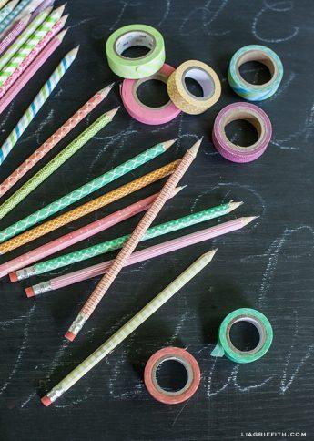 school supplies - decorated pencils